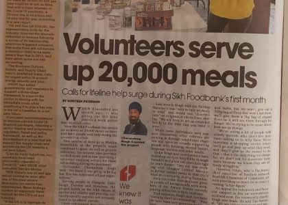 The Sikh Food Bank serves up 20,000 meals during Covid-19 lockdown